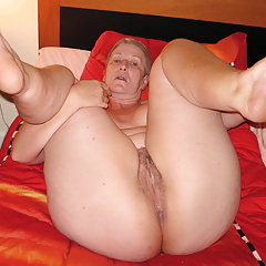 Bare genitals granny expected of penetration
