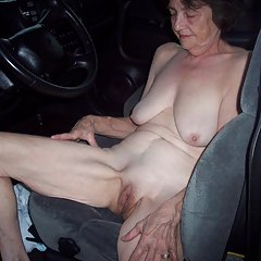 Naked granny in my car