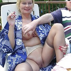 Mature woman shows that under her robe