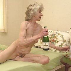 Drunk and naked granny