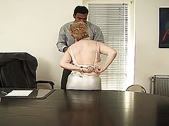 Oldest secretary lady office blow job
